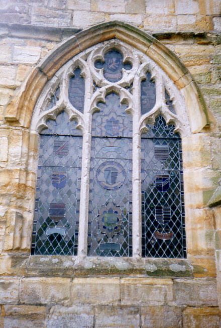 Exterior View Of Church Window